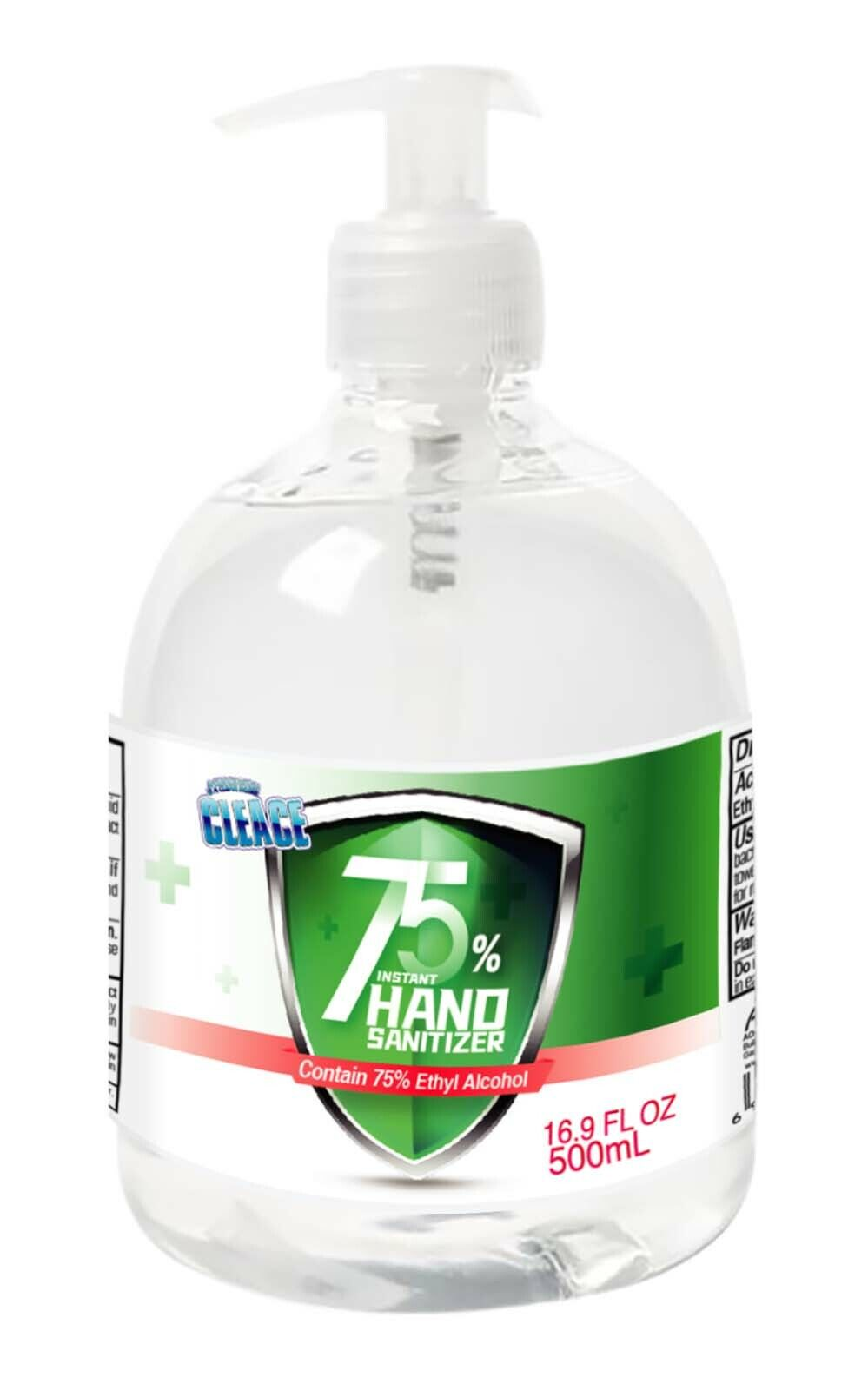 [16.9 oz] Cleace Advanced 75% Alcohol Sanitizer Gel, large 16.9 oz, up to 24PK Hand Sanitizers