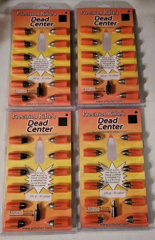 4x Precision Rifle Black Powder Bullets .50 Cal Dead Center Series Muzzle Loader