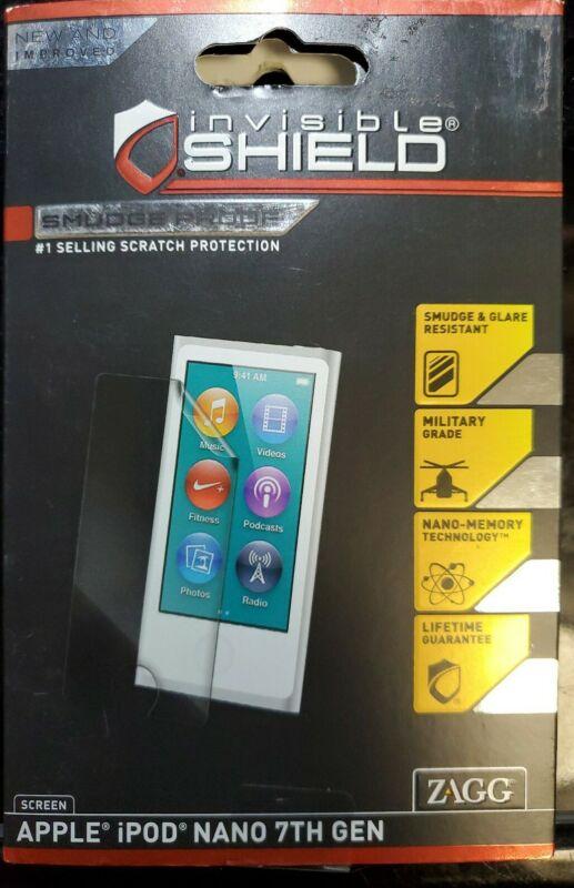 NEW Zagg Invisible Shield Apple iPod Nano 7th Gen SMUDGE Glare MILITARY GRADE