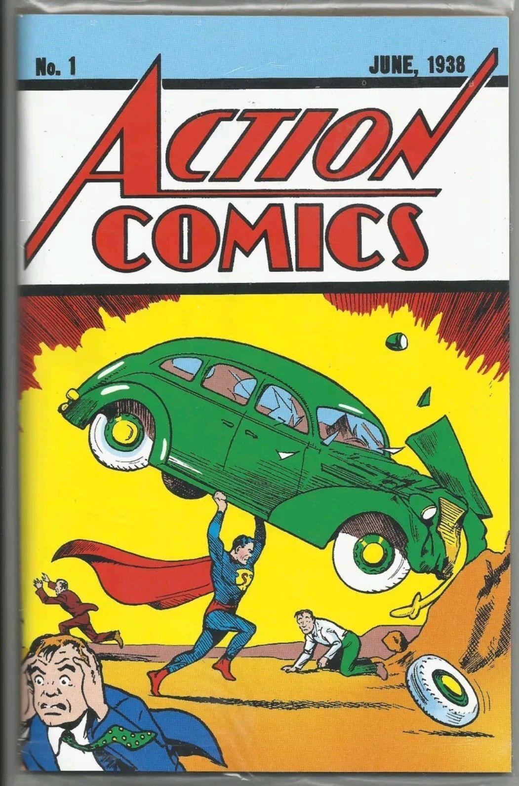 LOOT CRATE DC ACTION COMICS #1 1938 OFFICIAL REPRINT COA 1ST SUPERMAN