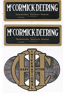 6 Hp Ihc International Harvester Mccormic M Hit Miss Gas Engine Motor Decal