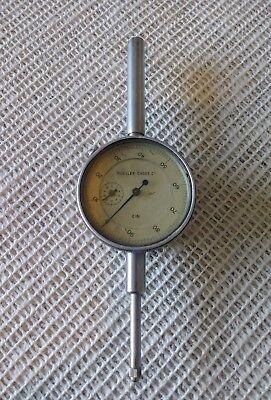 Vintage Mueller Gages Co. Dial Indicator C161 Graduation .001 Range 1 Inch.