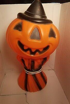 Vintage HALLOWEEN 1969 Empire Plastic Blow Mold Pumpkin Jack O Lantern