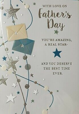 WITH LOVE ON FATHER'S DAY YOU'RE AMAZING - HUSBAND FATHERS DAY CARD
