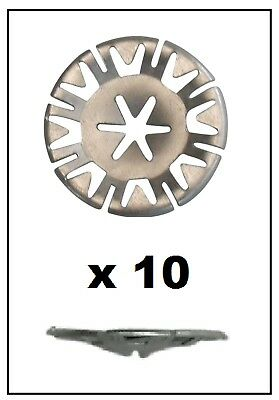 10x VOLKSWAGEN Undertray Exhaust Heat Shield Metal Spring Washer Fixing Clip Nut