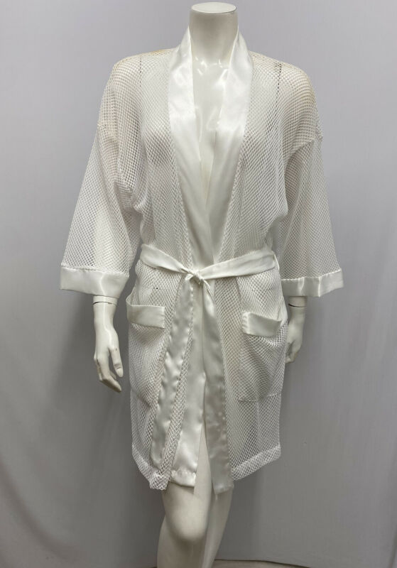 Vintage Miss Dior Robe White Mesh With Belt Sash NWT Saks Fifth Avenue Petite P