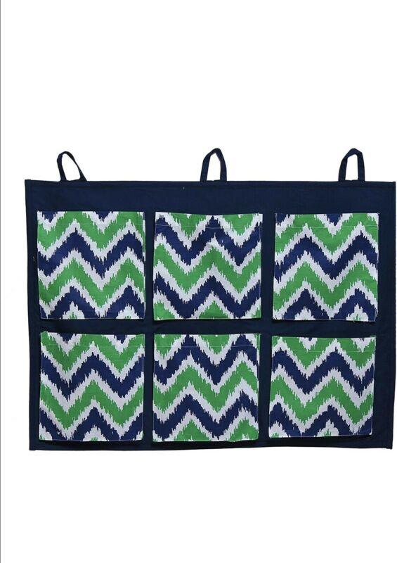 Bacati Mix N Match Blue/Green Zig Zag Storage Organizer