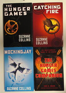 Hunger Games Trilogy 1-3 HARDCOVER Catching Fire + Companion  S Collins NEW