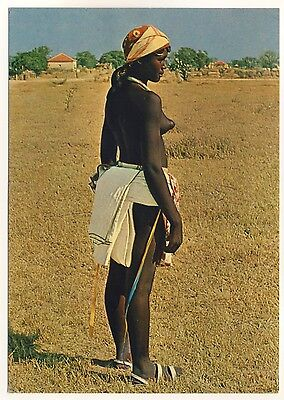 ANGOLA NATIVE GIRL HUMBE M DCHEN IN TYPISCHER KLEIDUNG 60S ETHNIC NUDE PC