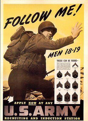 Bild Postkarte Of World War II Poster Follow Me Men Gelten Now US Armee Us-armee Bilder