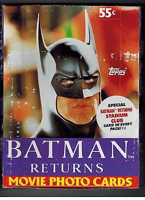 AN UNOPENED 1991 BATMAN RETURNS BOX 36 PACKS HIT MOVIE 9 CARDS STADIUM CLUB