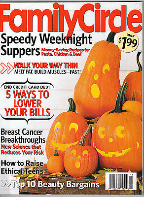 Family Circle 2009 Halloween Decorating Pumpkins Pantry Recipes Cindy Crawford](Family Circle Magazine Halloween Recipes)