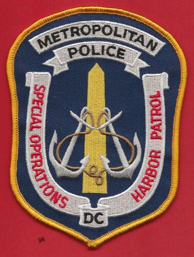 WASHINGTON DC METRO HARBOR PATROL SPECIAL OPERATIONS  POLICE SHOULDER PATCH