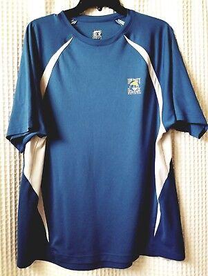 Salty Dog Cafe Polo Shirt Champion Mens XLBlue White Logo Vtg Tag Hilton Head