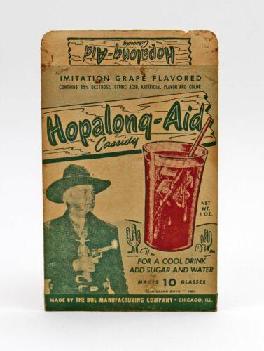 Vintage 1950 Hoppy Cool Aid Pouch, HOP-A-LONG Cassidy, Western Cowboy