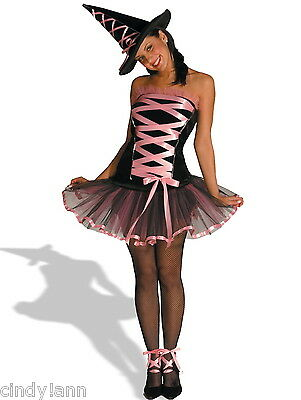 WITCHY LA BOUF BALLERINA WITCH HALLOWEEN COSTUME WOMENS 6 - 12