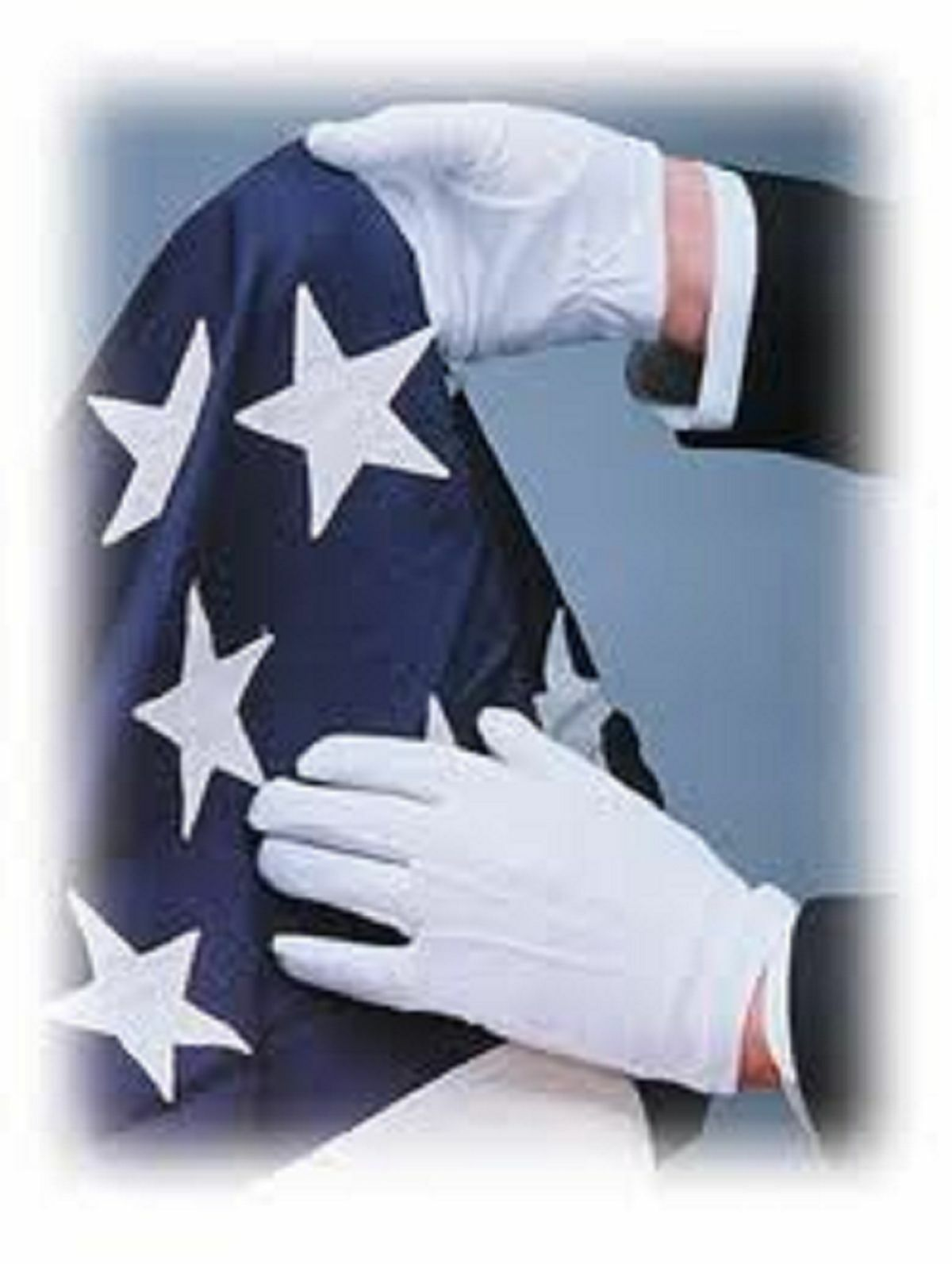US White 5//10 Pair Mens Formal Gloves Tuxedo Honor Guard Parade Santa Inspection
