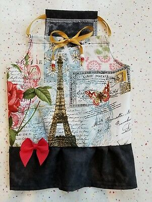 PBK Dog PILLOWCASE DRESS,  PARIS IN SPRING  Sz M Handmade Photos SOPHISTICATED