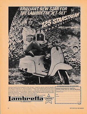 ONE ONLY! ORIG. 1964 LAMBRETTA 125 'SCI-FI'  SALES POSTER/AD
