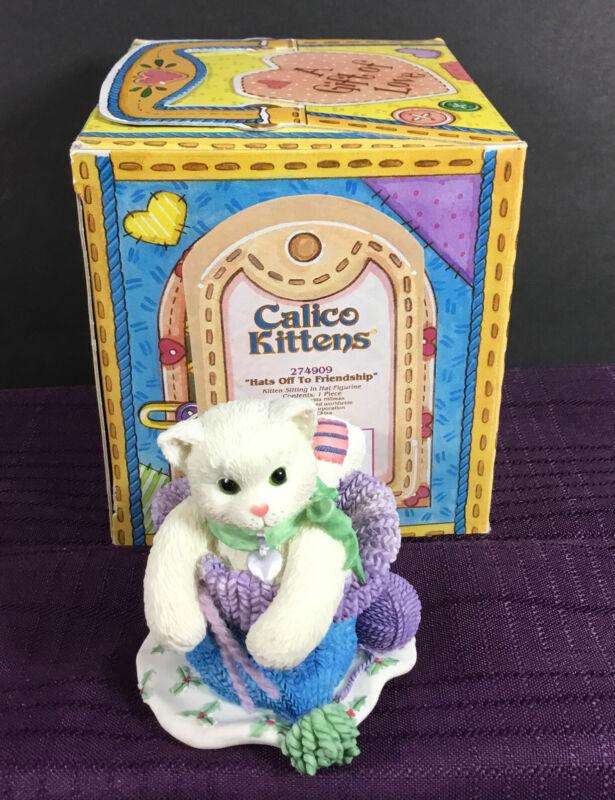 1997 Enesco Calico Kittens 274909 Hat