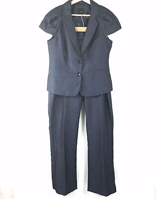 The Limited Pant Suit Size Medium Women Blazer Short Sleeve Cassidy Fit Trouser