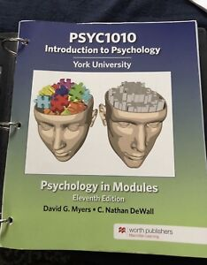 GOOD CONDITION- intro to psyc 1010