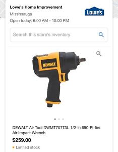 Dewalt air wrench