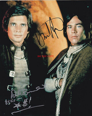 Richard Hatch Dirk Benedict Signed 8X10 Color Photo Battlestar Galactica Reprint