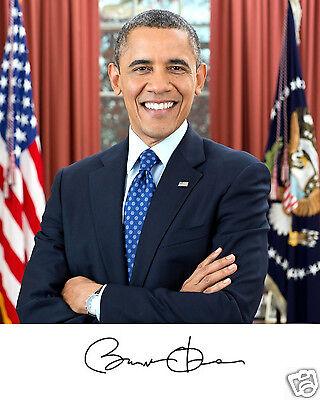 Barack Obama President Facsimile Autograph Official Photo Portrait Picture #st1