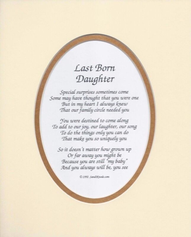 DAUGHTER & SON 12 CHOICES BIRTH ORDER POEMS BY SANDI KNODE  WITH MAT