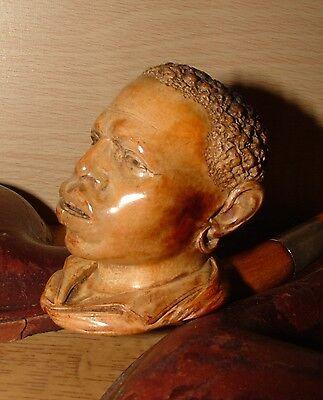 Antique Estate Large Figural Meerschaum Pipe Black Americana Slave Culture