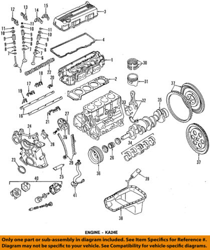 Nissan OEM 95-97 Pickup-motor de la cadena de distribución 130288B000 | eBay | 97 Nissan Pickup 2 4 Exhaust System Diagrahm |  | eBay
