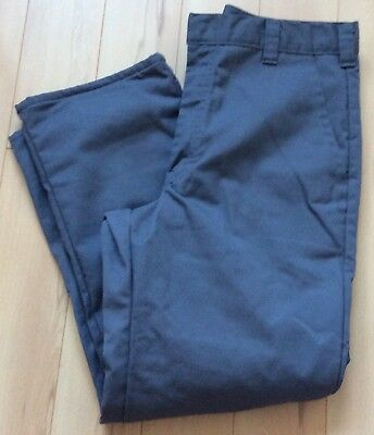 Big Bill Fully Lined Insulated Flat Front Khakis Work  Pants Gray Men's Sz (Big Bill Khaki)