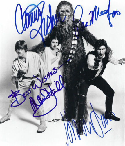 Carrie Fisher Harrison Ford ( Star Wars ) Autographed Signed 8x10 Photo Reprint