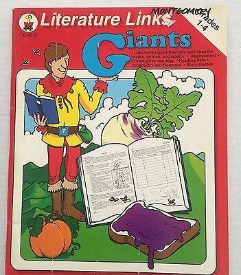 Giants Theme Teaching Resource Book Grade 1-4 Activity Ideas Reproducible 4 Reproducible Resource Book