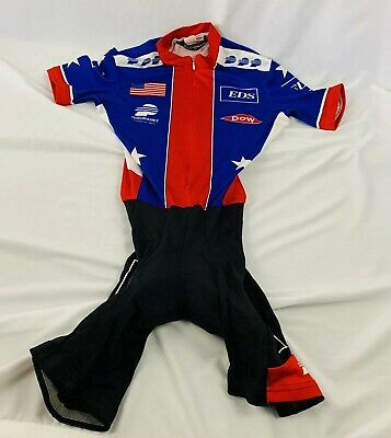 59d29e0ea USA Cycling Official National Team Cycling Skinsuit Short Sleeve Size XS