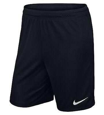 Nike Mens Park Football Short Gym Training Shorts Dri Fit Short Black Large