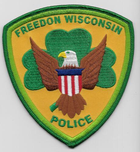 Freedom Police State Wisconsin WI Shamrock patch