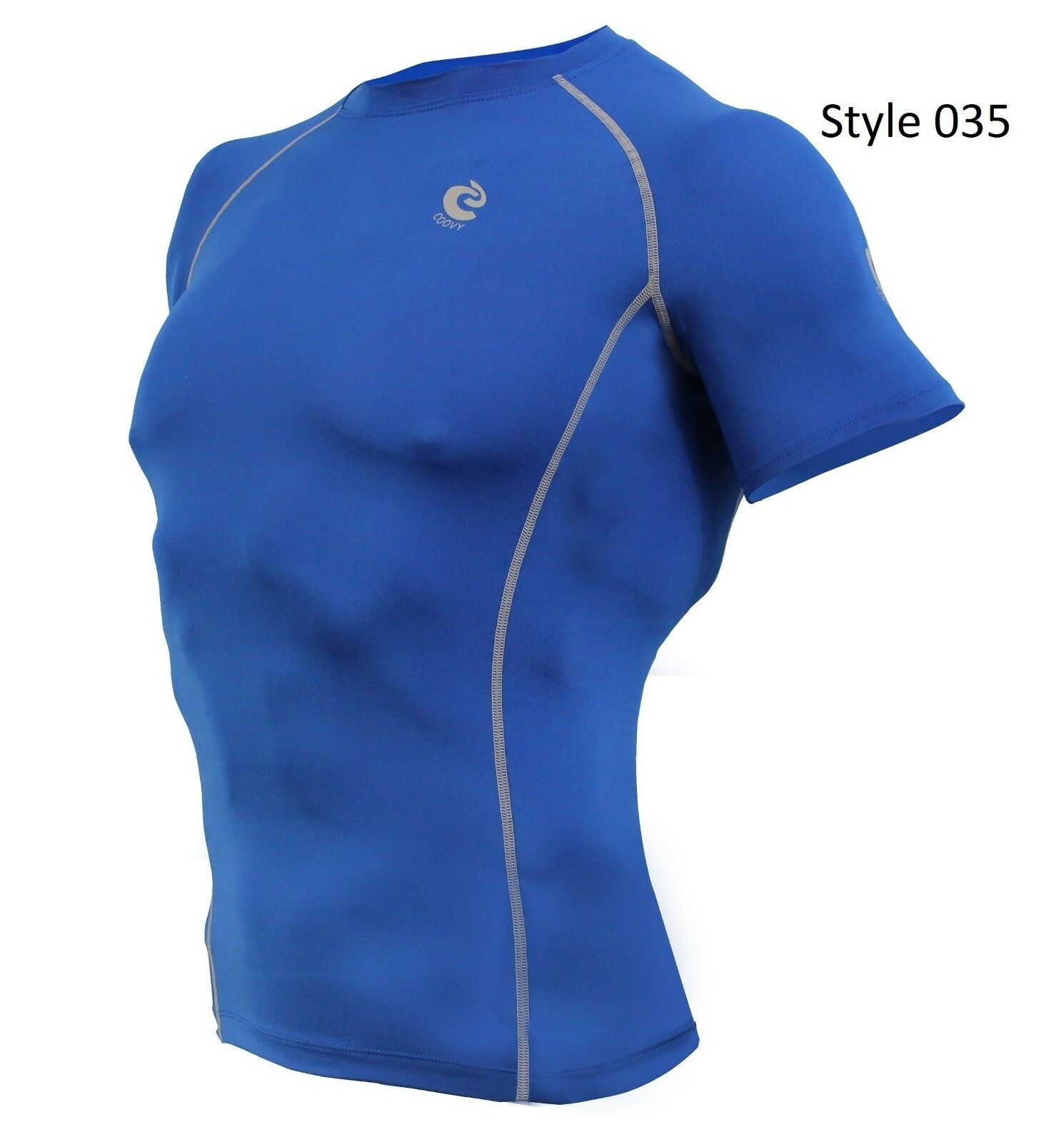 035 Blue Short Sleeve Shirt