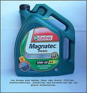 huile de moteur berlin castrol magnatec diesel 10w 40 5l 10w40 ebay. Black Bedroom Furniture Sets. Home Design Ideas