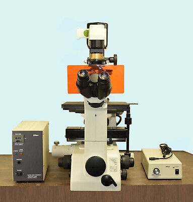 Nikon Eclipse Te300 Inverted Phase Contrast Microscope Hmc 4 Objectives Epi