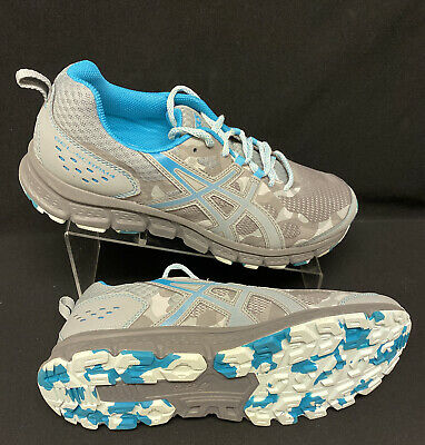 ASICS Gel-Scram 4 Women's Running Shoes-Mid Grey/Lagoon-1012A039 NEW! SZ 11.5