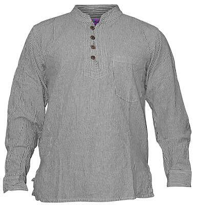 Mens Summer Stripy Shirt Causal Light Cotton Tops  - Hippie Man