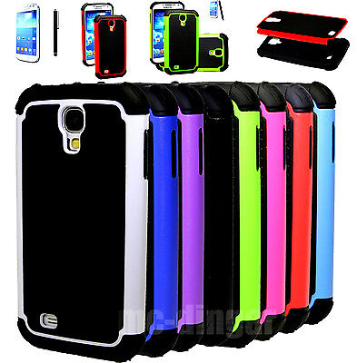 New Combo Hybrid Impact Hard Case Cover+Screen for Samsung Galaxy S IV S4 (Best Screen Protector For Samsung Galaxy S4)