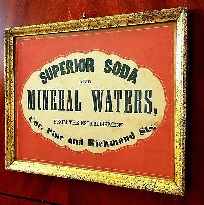 1860s Antique Sign N H Mowry's Liquors & Soda Shop Providence Rhode Island R.I.