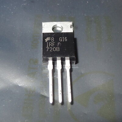 1 Pc Irf720b N-channel Power Fet 400v 3.3a. 10d2-5