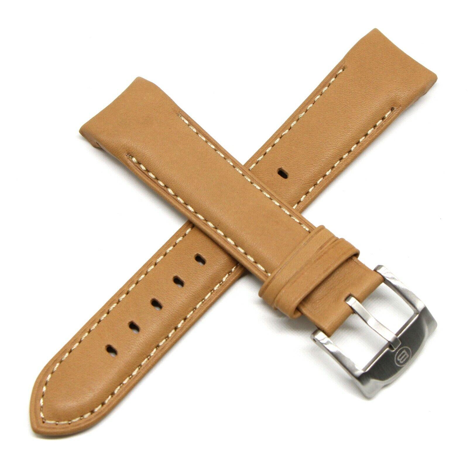 Ben & Sons Uhrenarmband 22MM Echtleder Braun für West Side