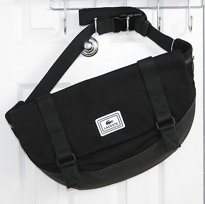 LACOSTE Men Urban Mate Large Cross Body Messenger Bag Black Canvas for sale  Shipping to Canada