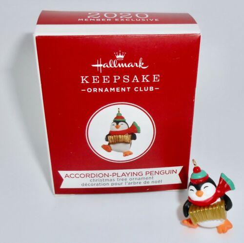 Hallmark Keepsake Miniature Ornament 2020 ACCORDION PLAYING PENGUIN KOC H26