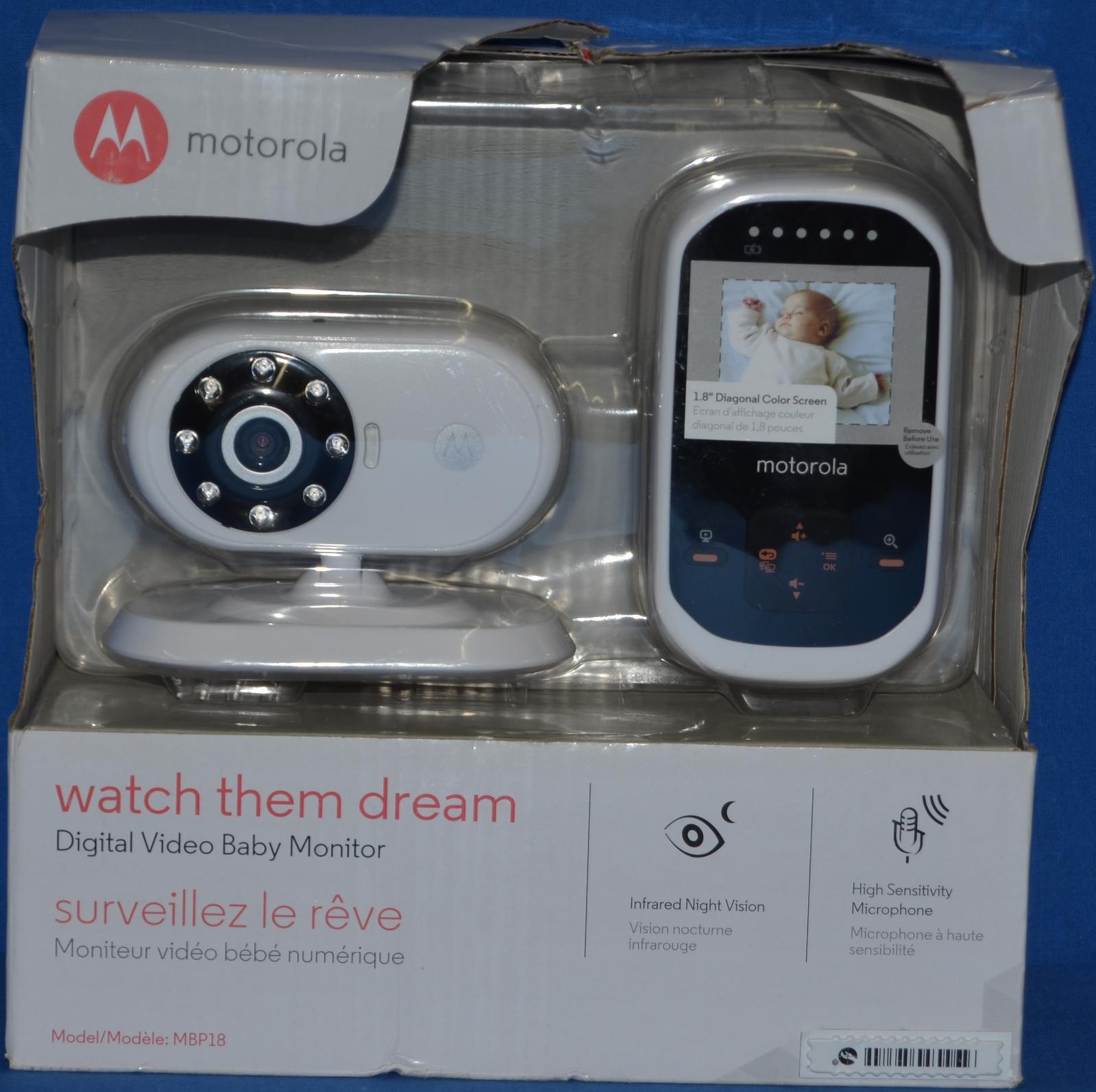 Motorola MBP18 Digital Wireless Video Baby Monitor with 1.8-